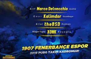 1907 Fenerbahçe PUBG Kadrosunu Duyurdu!